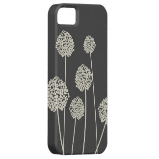 TAN/GRAY STRANGE FLOWERS iPhone 5 Case