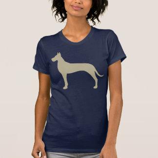 Tan Great Dane Silhouette T Shirts