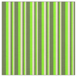 [ Thumbnail: Tan, Green & Dark Olive Green Colored Lines Fabric ]