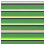 [ Thumbnail: Tan, Green, White, Black, and Forest Green Colored Fabric ]