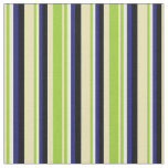 [ Thumbnail: Tan, Green, White, Midnight Blue & Black Colored Fabric ]