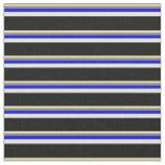 [ Thumbnail: Tan, Grey, Blue, Light Cyan, and Black Colored Fabric ]