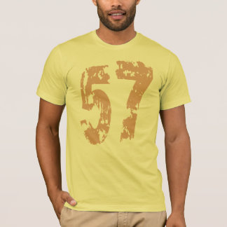TAN GRUNGE AND ERODED STYLE NUMBER 57 T-Shirt