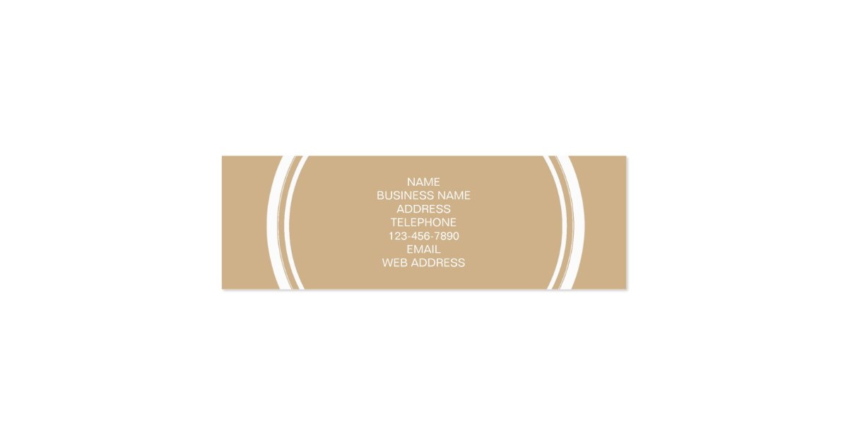 Tan High End Colored Monogrammed Mini Business Card