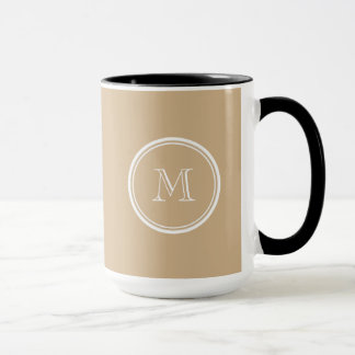 Tan High End Colored Monogrammed Mug