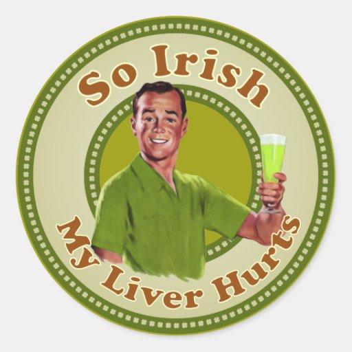 Tan irlandés mi hígado daña al pegatina