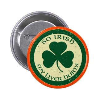 Tan irlandés mi hígado daña el botón pin