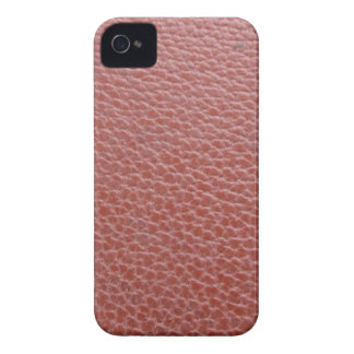 Tan Leather Finish : Add Greeting Text or Image iPhone 4 Case