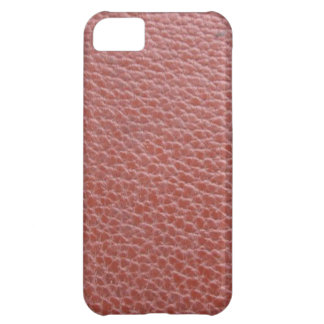Tan Leather Finish : Add Greeting Text or Image iPhone 5C Cover