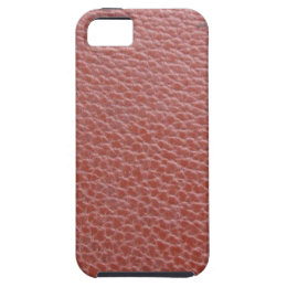 Tan Leather Finish : Add Greeting Text or Image iPhone SE/5/5s Case