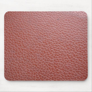 Tan Leather Finish : Add Greeting Text or Image Mouse Pad