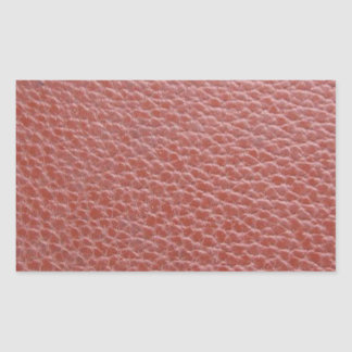Tan Leather Finish : Add Greeting Text or Image Rectangular Sticker