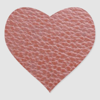 Tan Leather Finish : Add Greeting Text or Image Heart Sticker