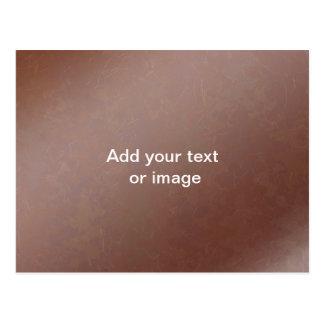 Tan Leather Finish - Elegant Look Paper Craft Postcard