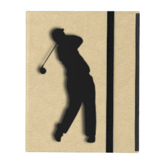 Tan Leather Golf iPad Cover