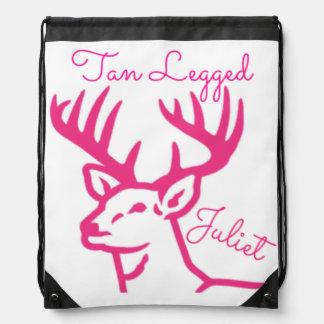 Tan Legged Juliet Drawstring Backpack