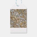tan light gravel art gift tags