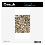 tan light gravel art iPhone 4 skins