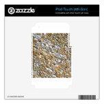 tan light gravel art iPod touch 4G skin