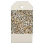tan light gravel art wooden gift tags