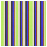 [ Thumbnail: Tan, Light Green, Maroon, Blue & Black Colored Fabric ]