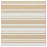 [ Thumbnail: Tan & Light Yellow Colored Pattern of Stripes Fabric ]