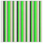 [ Thumbnail: Tan, Lime, Black & White Colored Pattern Fabric ]