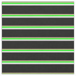 [ Thumbnail: Tan, Lime, Light Cyan, and Black Colored Lines Fabric ]