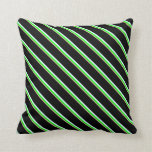 [ Thumbnail: Tan, Lime, Light Cyan, and Black Colored Lines Throw Pillow ]