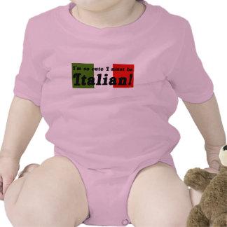 Tan lindo debo ser camisa infantil italiana