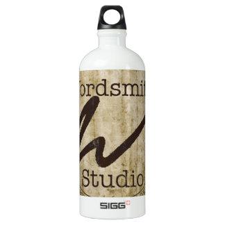 Tan Logo Aluminum Water Bottle