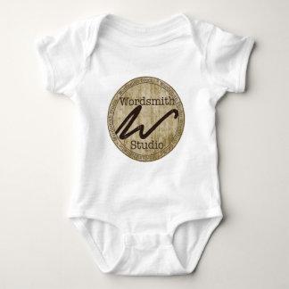 Tan Logo Infant Creeper