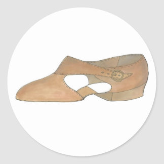 Tan Lyrical Modern Dance Dancer Shoe Shoes Sticker