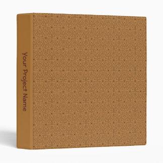 "Tan Mexican Geometric 1"" Avery Binder Template"
