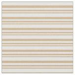 [ Thumbnail: Tan & Mint Cream Striped/Lined Pattern Fabric ]