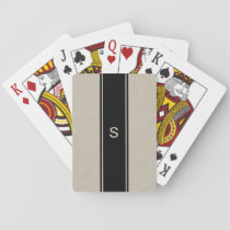 Tan Monogrammed Playing Cards for Men