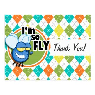 ¡Tan mosca!  Modelo colorido de Argyle Postal