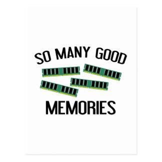 Tan muchas buenas memorias postal