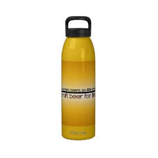 Tan muchas cervezas tan poca hora botella de agua reutilizable