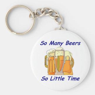 Tan muchas cervezas, tan poca hora llavero redondo tipo pin
