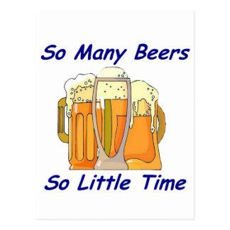 Tan muchas cervezas, tan poca hora tarjetas postales
