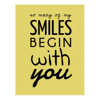Tan muchas de mi postal inspirada de las sonrisas