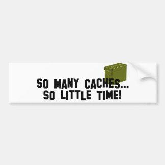 Tan muchos escondrijos… pegatina de parachoque