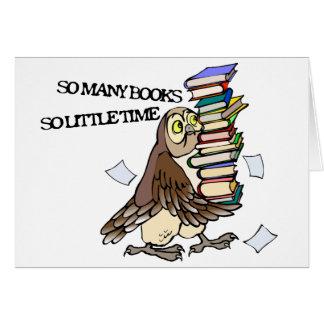 Tan muchos libros felicitación