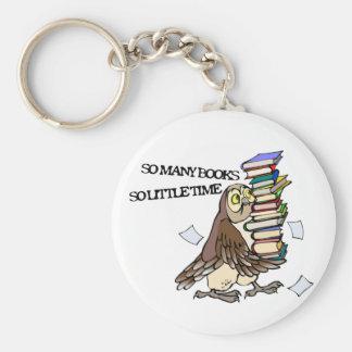 Tan muchos libros llavero redondo tipo pin