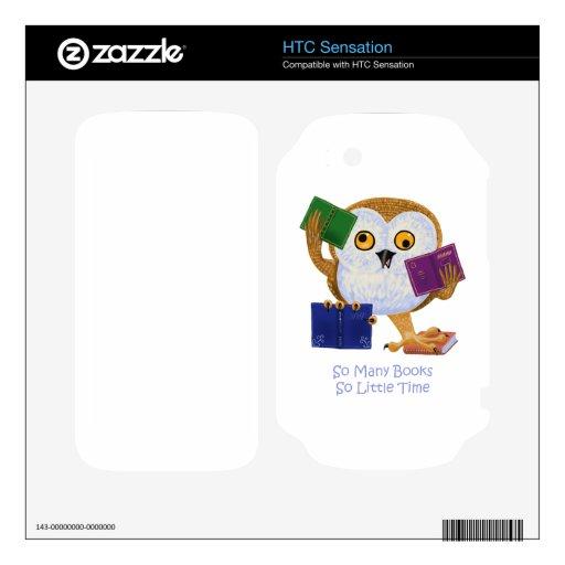 Tan muchos libros tan poca hora calcomanía para HTC sensation
