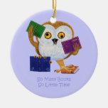 Tan muchos libros tan poca hora ornamentos de navidad