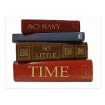 Tan muchos libros tan poca hora postales