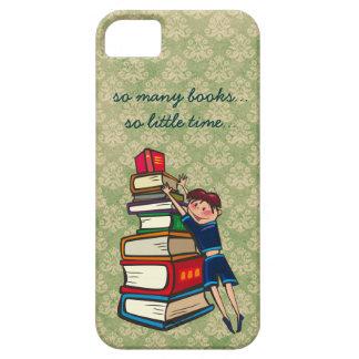 tan muchos libros, tan poco lector ávido del tiemp iPhone 5 cárcasas
