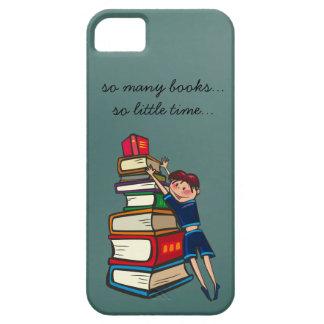 tan muchos libros, tan poco lector ávido del tiemp iPhone 5 Case-Mate funda